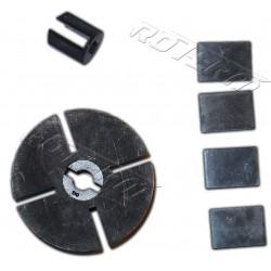 Zestaw / wirnik - łopatki - sprzęgło - grubość: 17 mm